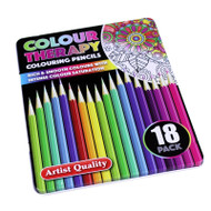 Colour Therapy Colouring Pencils 18 Pack in Presentation Tin
