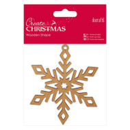 Papermania Create Christmas Wooden Shapes - Snowflake by DoCrafts