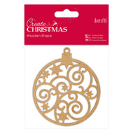 Papermania Create Christmas Wooden Shapes - Bauble by DoCrafts