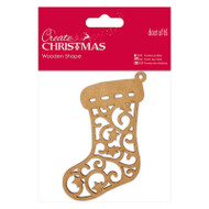 Papermania Create Christmas Wooden Shapes - Stocking by DoCrafts