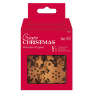 Papermania Create Christmas Wooden Shapes - Mixed Snowflake 10 Pack by DoCrafts