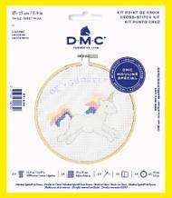 DMC Unicorn Counted Cross Stitch Kit Complete with Hoop Needle Aida & Thread