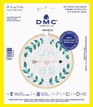 DMC Love Laurel Counted Cross Stitch Kit Complete with Hoop Needle Aida & Thread