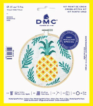 DMC Pineapple Counted Cross Stitch Kit Complete with Hoop Needle Aida & Thread