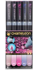 Chameleon Color Tones 5 Pen Set Alcohol Blending Gradient - Floral Colour Tones