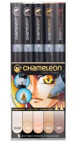 Chameleon Color Tones 5 Pen Set Alcohol Blending Gradient - Skin Colour Tones