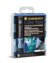 Chameleon Color Tops 5 Pen Set Alcohol Blending Gradient - Blue Colour Tones