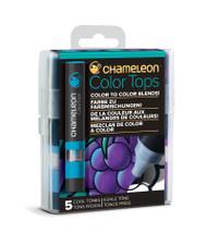 Chameleon Color Tops 5 Pen Set Alcohol Blending Gradient - Cool Colour Tones