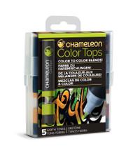 Chameleon Color Tops 5 Pen Set Alcohol Blending Gradient - Earth Colour Tones