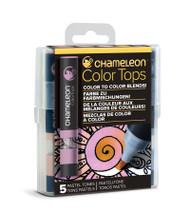 Chameleon Color Tops 5 Pen Set Alcohol Blending Gradient - Pastel Colour Tones