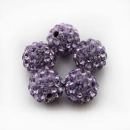 10mm Shamballa Beads - Dark Violet