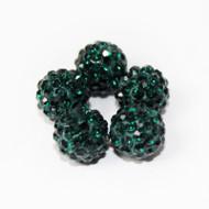 10mm Shamballa Beads - Emerald Green