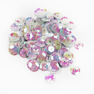 Sequins - 8mm Iridescent white