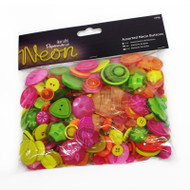 Papermania Neon Mixed Buttons 250g