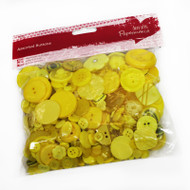 Papermania Yellow Mixed Buttons 250g