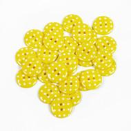 Polka Dot Buttons - Yellow
