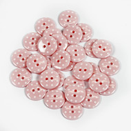 Polka Dot Buttons - Pale Pink