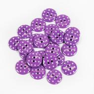 Polka Dot Buttons - Purple