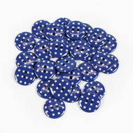 Polka Dot Buttons - Dark Blue