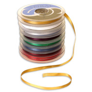 Coloured Double-Faced Satin Spiral Ribbon x 25mtr