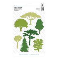 X-Cut Woodland Trees Dies 6 pieces