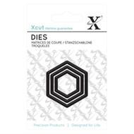 X-Cut Mini Hexagon Dies
