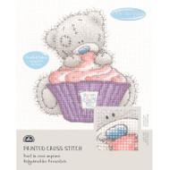 DMC Printed Cross Stitch Kit Tatty Teddy - Cupcake