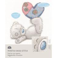 DMC Printed Cross Stitch Kit Tatty Teddy - Patchwork Heart