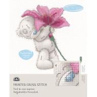 DMC Printed Cross Stitch Kit Tatty Teddy - Pink Lily