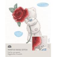 DMC Printed Cross Stitch Kit Tatty Teddy- Rose