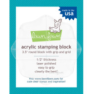 Lawn Fawn Acrylic Stamping Block 3.5 inches