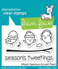 Lawn Fawn Winter Sparrows Stamps