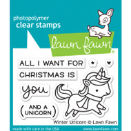 Lawn Fawn Winter Unicorn Stamps