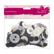 Papermania Monochrome Mixed Buttons 250g