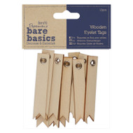 Docrafts Wooden Eyelet Tags 12pcs