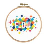 DMC Mindful Moments Cross Stitch Kit - Flow