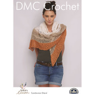 DMC Natura Linen Crochet Pattern - Sundowner Shawl