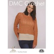 DMC Natura Linen Crochet Pattern - Foxy Boxy Sweater