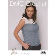 DMC Natura Linen Crochet Pattern - Two-Tone Shelley Top