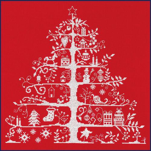 JPBK557R DMC Christmas Tree Red Nordic Design