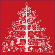 JPBK557R DMC Christmas Tree Red Nordic Design
