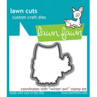 Lawn Fawn Winter Owl Die