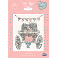 DMC Me to You Tatty Teddy Counted Cross Stitch Kit - Mr and Mrs