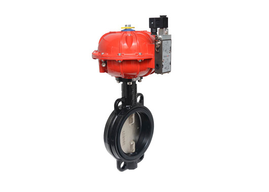 "2"" Ductile Iron Wafer Butterfly Valve Easytork"