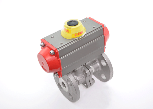 "1-1/2"" JFlow DM2533 Flanged Ball Valve & SR Pneumatic Actuator - ValveMan.com"