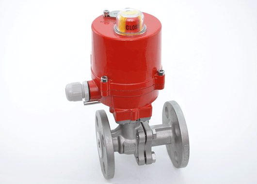 "3/4"" JFlow DM2533 Flanged Ball Valve with Electric Actuator - ValveMan.com"