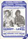 original programme for the Light Welterweight European Title bout Pat 'Black Flash' Barrett V Racheed Lawal held at the G-Mex, Manchester on 9 October 1991.