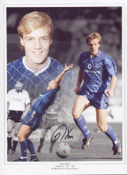 "Kerry Dixon made 420 appearances for Chelsea between 1983 - 1992, scoring 193 goals. This superb montage is 16""x12"" (405mm x 305mm) and was signed by Kerry Dixon at a private signing session held at Collectamainia, Earls Court, London on 27/28 November 2009."