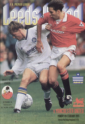 original Official programme for the Premier League match Leeds United V Manchester United played on 8 February 1993.