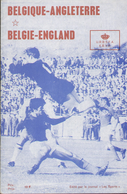 offer is an original Official programme for the friendly match Belgium V England, the game was played on 25 February 1970.